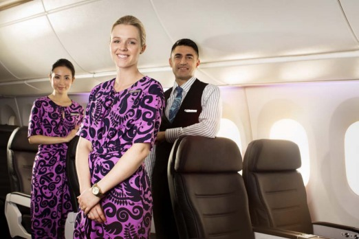 Air New Zealand flight crew.