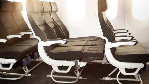 Air New Zealand Boeing 787-9 economy Skycouch.