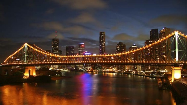 Gastronomic genius: Brisbane's Story Bridge and city.