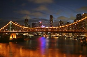 Brisbane Bridge at Night.