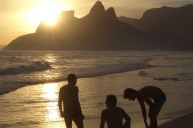 Image taken at Ipanema Beach, Rio de Janiero during February 2014. The friendly people, warm breeze and gentle surf together with spectacular scenery produced a very memorable evening.