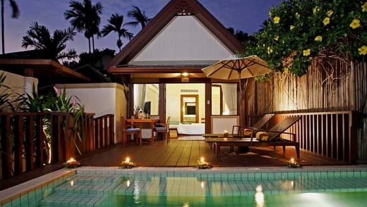 Relax: Poolside at the Centara Villas Samui.