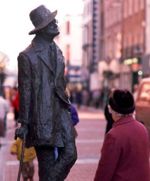 Plenty to see: The James Joyce statue in Dublin.