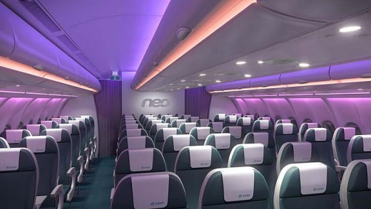 Economy class on the A330neo.