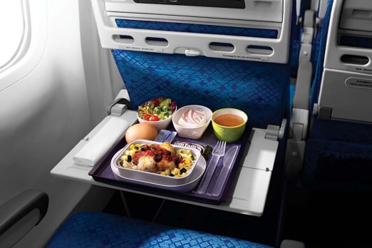 Meal on Cathay Pacific.
