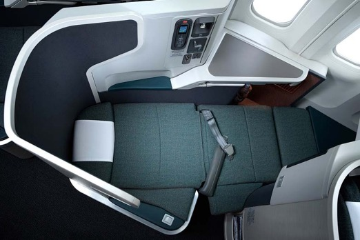 Bed on Cathay Pacific.