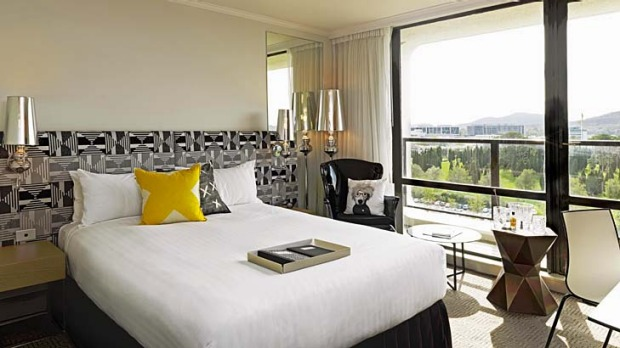 Luxury boutique hotel with a designer streak: QT Canberra.