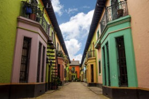Historic Colorful Buildings in 