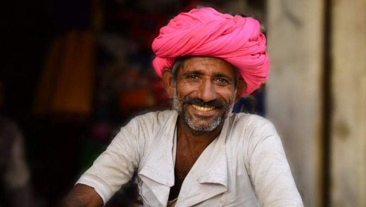 Man in a shopfront, Narlai Village, India.
