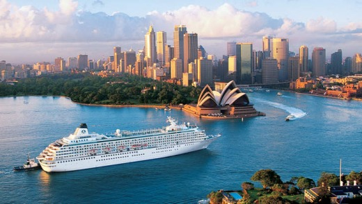 Crystal Symphony in Sydney Harbour.
