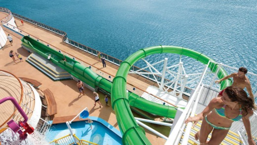 Swimming pool deck on Green Thunder.
