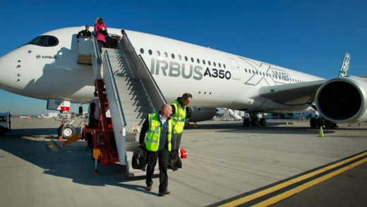 World tour: The A350 XWB in Sydney.