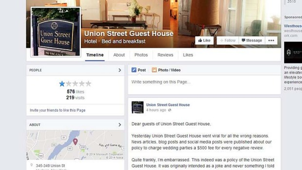 Hotel owner Chris Wagoner posted the apology to the hotel's Facebook page.