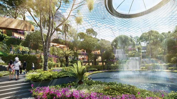 A key feature of the project is a large scale, lush indoor garden with a breathtaking central waterfall.