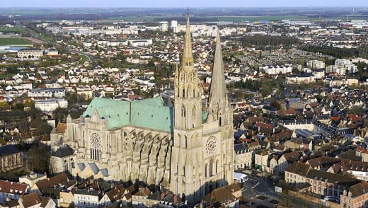 Notre Dame cathedral in Chartres, Eure et Loir, France.