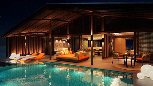 A suite with private pool.