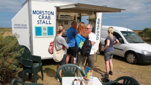 Pop-up Morston crab stall.