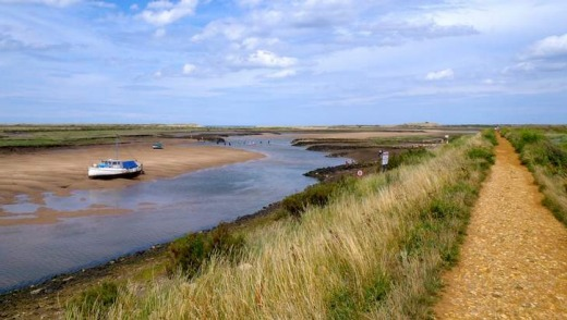 Coastal vistas: Norfolk coastal path.