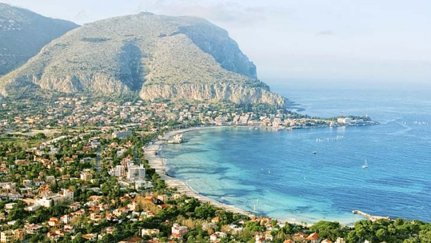 Sights of Sicily: Palermo's bay.