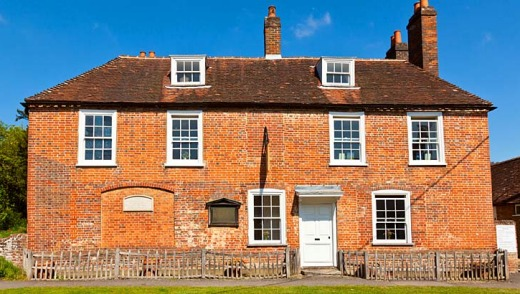 Humble home: Jane Austen's House Museum in Chawton, Hampshire, England.