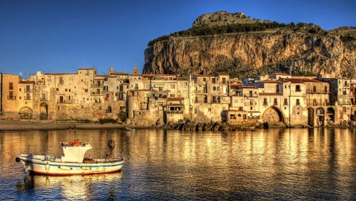 Fishing boat by the pier of Cefalu.
