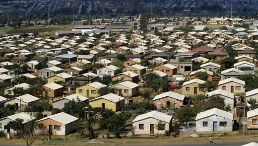Houses in Soweto, Johannesburg.