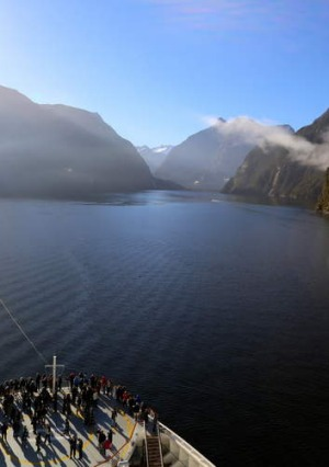 Water world: Celebrity Solstice in Milford Sound.