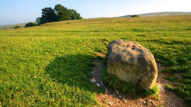 The boundary stone where all food and supplies to Eyam were left.