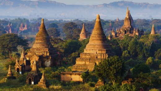 The plain of Bagan, Mandalay, Myanmar.