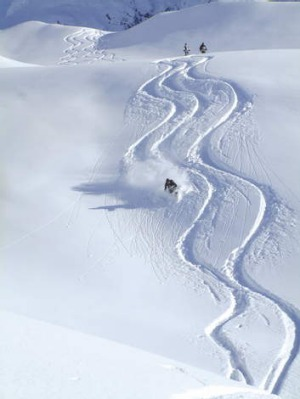 Fresh snow can be found all over the mountains that the heli-ski operators take you to each morning.