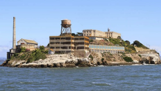 Haunting: The former prison island of Alcatraz.