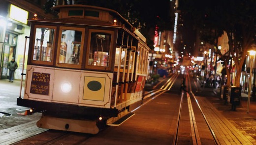 Old school: One of San Francisco's historic cable cars.
