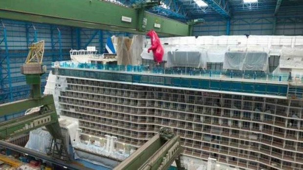 The polar bear claims deck space on Quantum of the seas.