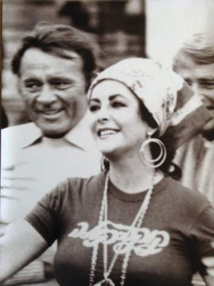 Burton and Taylor in 1975.
