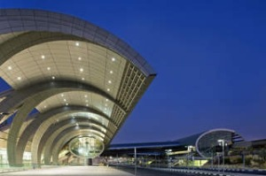 Exterior of departures area at Dubai airport's new Terminal 3