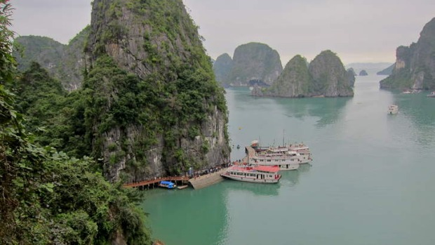 Full of surprises: Halong Bay, Vietnam.