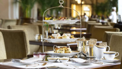 Colonial tradition: Afternoon tea at the Peninsula Hotel.