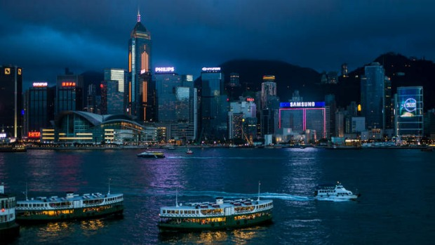 Impressive skyline: Central Hong Kong as viewed from Kowloon.