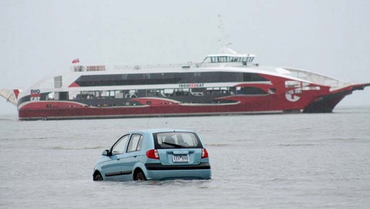 Another GPS fail. In 2012, Three Japanese tourists were fooled by a low tide and their GPS into believing they could ...