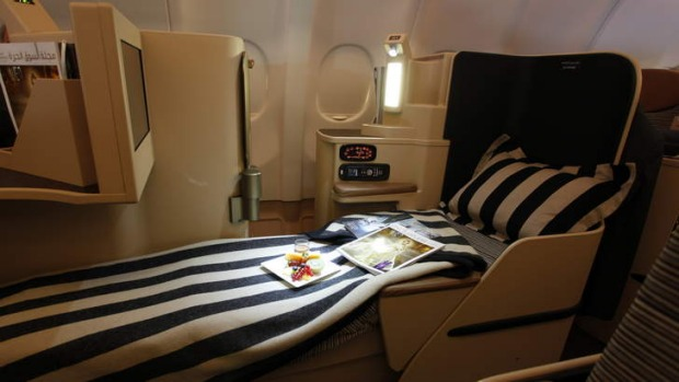 Etihad Airways business class.