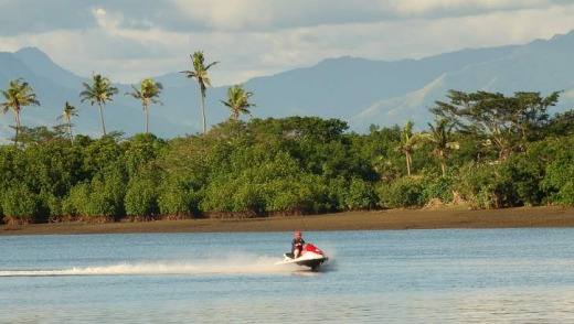 Fiji adventures: jet skiing.