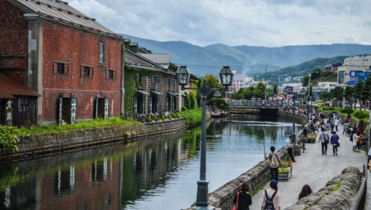Otaru Canal features many restaurants.