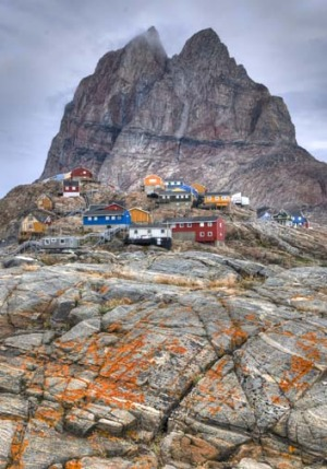 Tourist magnet: The Uummannaq mountain is a landmark of Greenland.