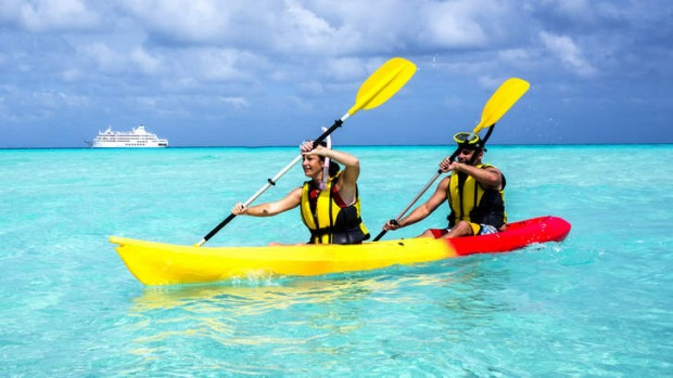 Action stations: Fiji's high-energy attractions include kayaking.