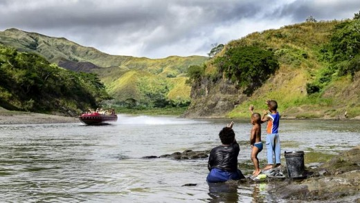 Jet boating on the Sigatoka River.