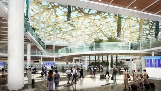 An artist's impression of the new airport's concourse.