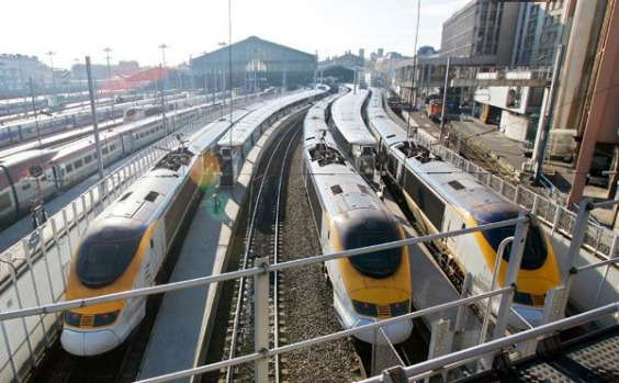 The new line built for the Eurostar will allow trains to touch speeds of 299 km/h.