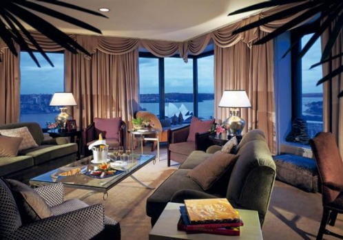 Presidential suite, Four Seasons Hotel, Sydney. This two-bedroom, 156-square-metre suite above Circular Quay has been a ...