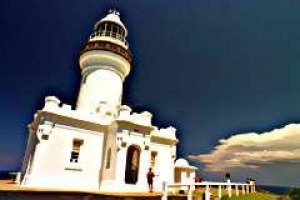 The lighthouse at Byron Bay.
