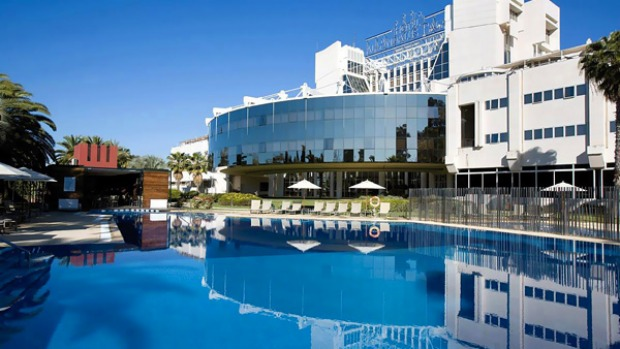 Spanish sighs ... the renovated Al-Andalus Palace hotel features a grand pool and surrounds.